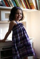 madras voile de lin violet argenté
