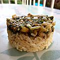 Blettes sautées et riz complet