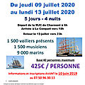 Voyage à brest 9 au 13/07 2020