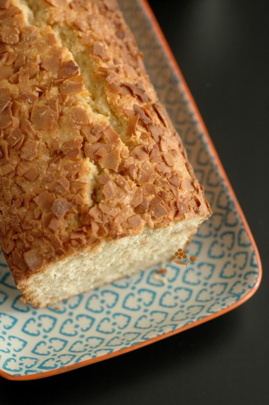 Cake fondant & moelleux pâte d'amande & noix de coco_5