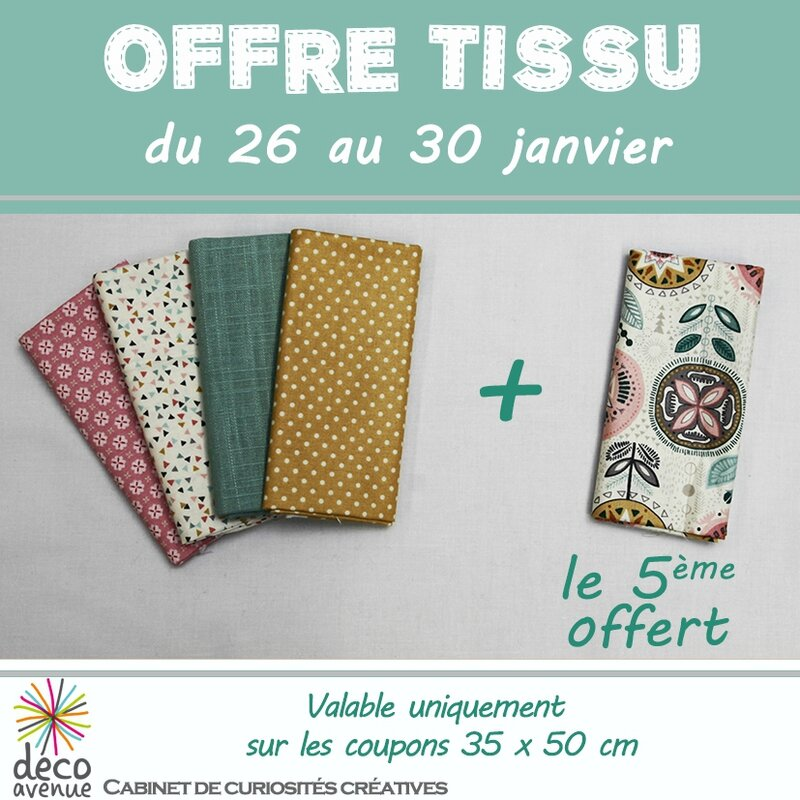 offre coupons tissus