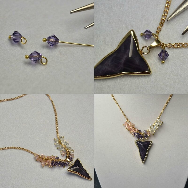 pandahall-diy-idea-on-crystal-beads-cluster-necklace-with-triangle-amethyst-pendants02_2