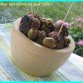 Bouchées aux olives et aux noix