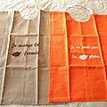 serviettes de grands