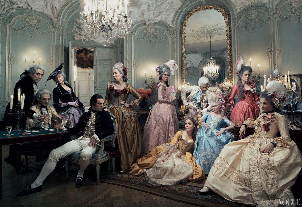 Annie Leibovitz, Marie Antoinette by Sophia Coppola, Vogue September 2006 -  Alain.R.Truong