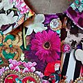 Veste VICTORINE en toile de coton imprimée zèbre-léopard-rose-violet - Doublure de satin noire (20)