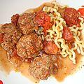 Boulettes de viande hachée farcies aux champignons