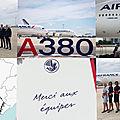 Air france offre le dernier vol de l'a380 à ses salariés.