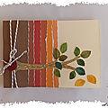 Carte déchirée aux couleurs d'automne