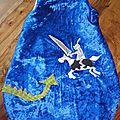 turbulette hiver chevalier et dragon, knight and dragon winter sleeping bag (2)