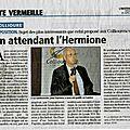 Article de l'indépendant pour la conférence de jean garidou (président de c.p.c.v.) à collioure, l'hermione frégate des lumières