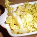 Chou chinois en vinaigrette sucré/salé