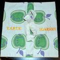 Tissu imprimé pommes