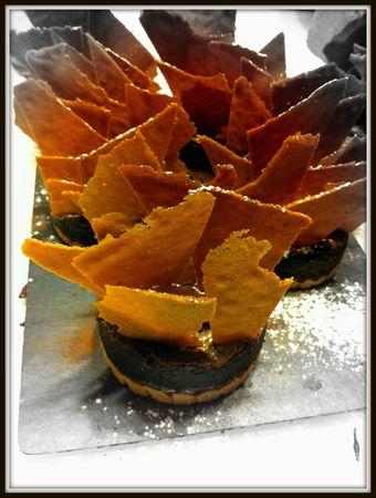 gateau chocolat sur sablé aux amandes et gavottes au chocolat