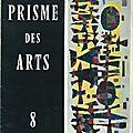 Prisme des arts - n° 8, 9,11 et 15