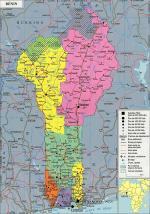 Présentation Bénin 1 Carte géographique