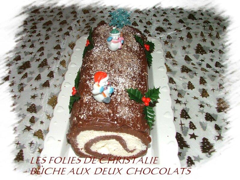 Bûche aux deux chocolats 1