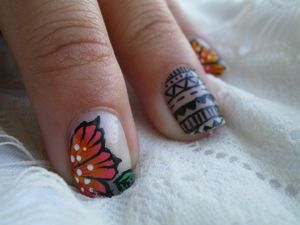 nail art tribal one stroke 9