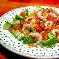Salade fraîcheur aux crevettes roses, sans blé, sans lait