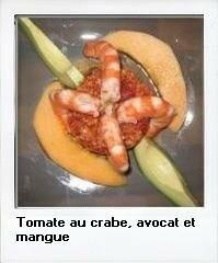 tomates et crabe