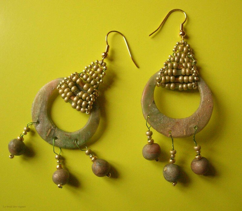 Boucles d'oreilles assorties au collier