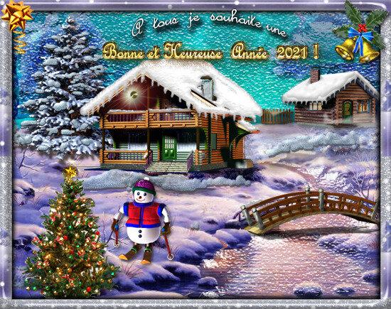 2021-carte-voeux--bonne-année-châlet-sapin-neige
