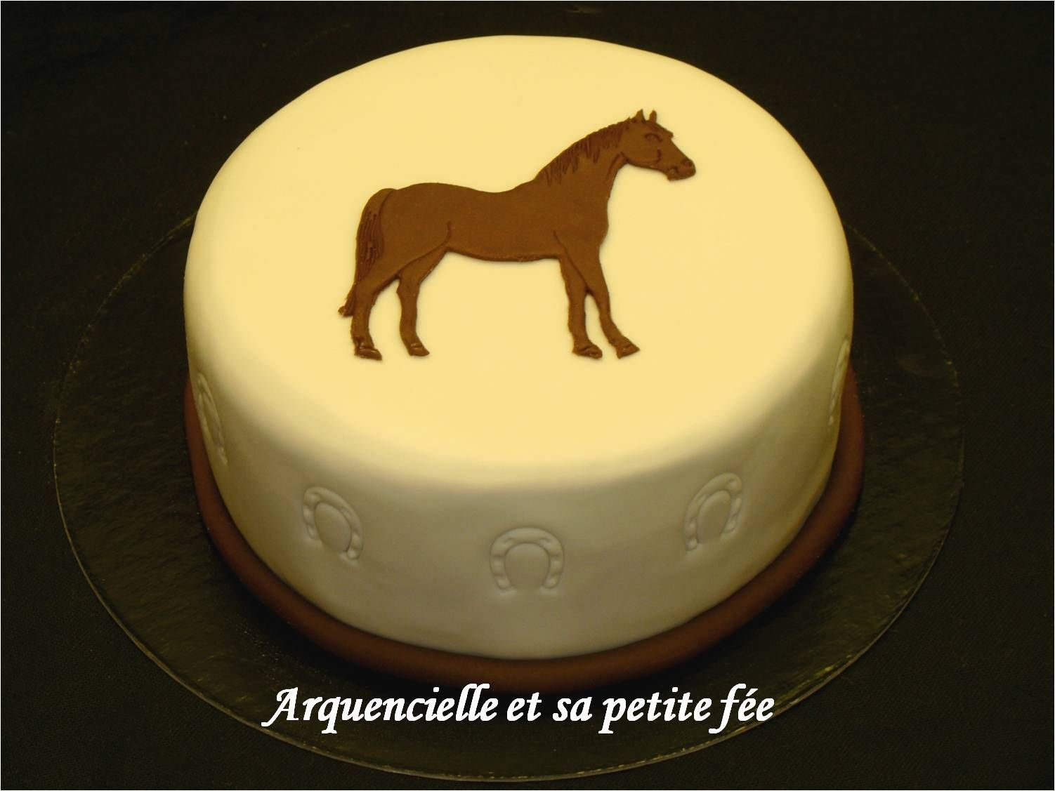 Gâteau cheval simple