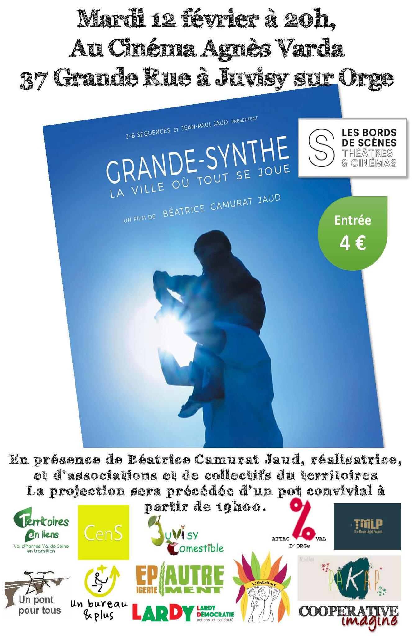 [Infromation culturelle] Projection du film « Grande Synthe » au cinéma Agnès Varda de Juvisy sur Orge, mardi 12 février à 20h