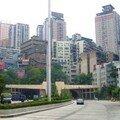 Chongqing sur un rocher