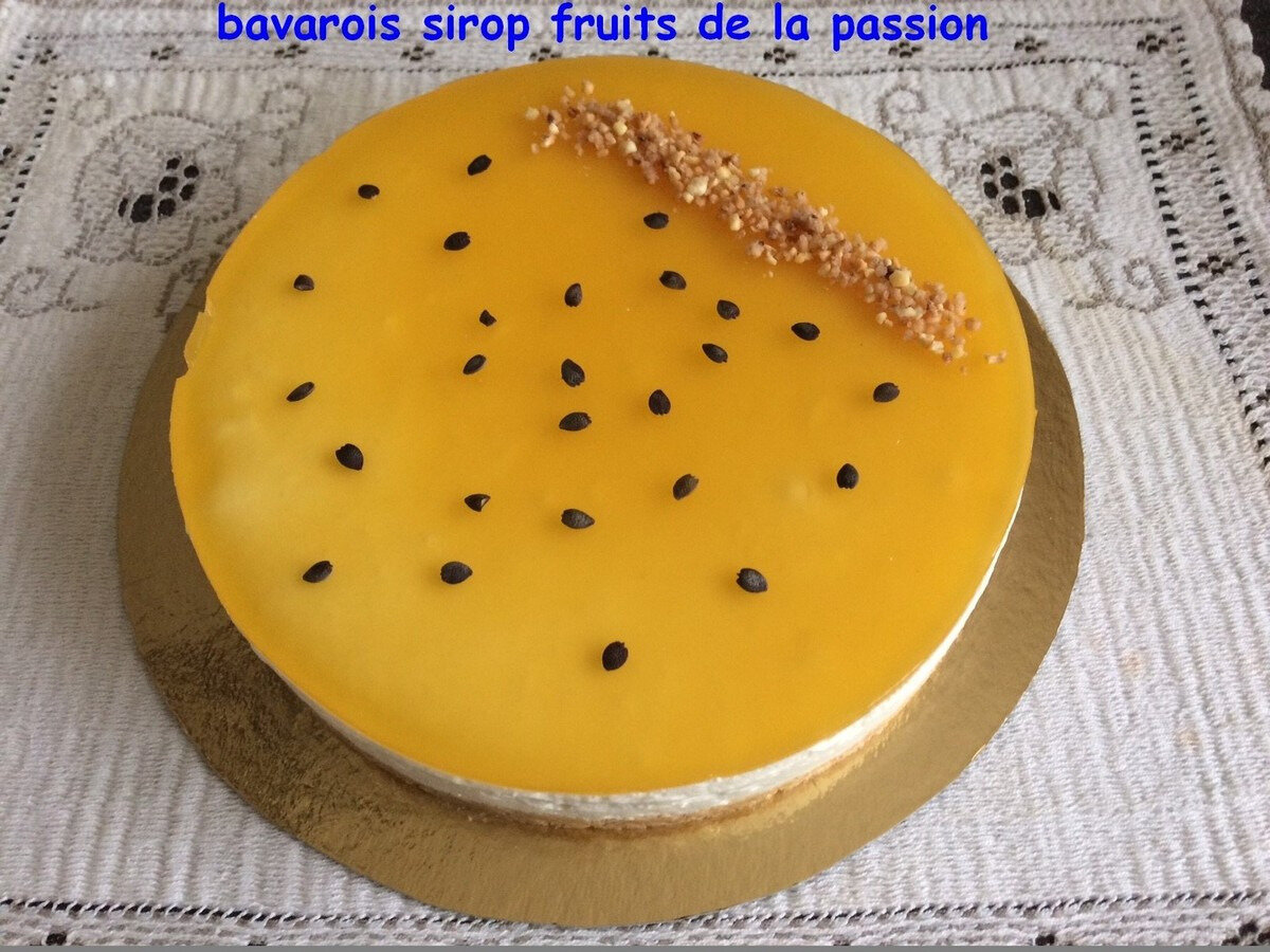 bavarois aux fruits de la passion
