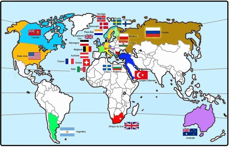 Carte Particpants JO 1908