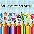 Bonne rentrée scolaire ! 2015 - 2016