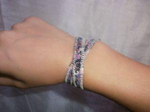 bracelet Violet double