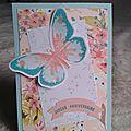 carte twist papillon