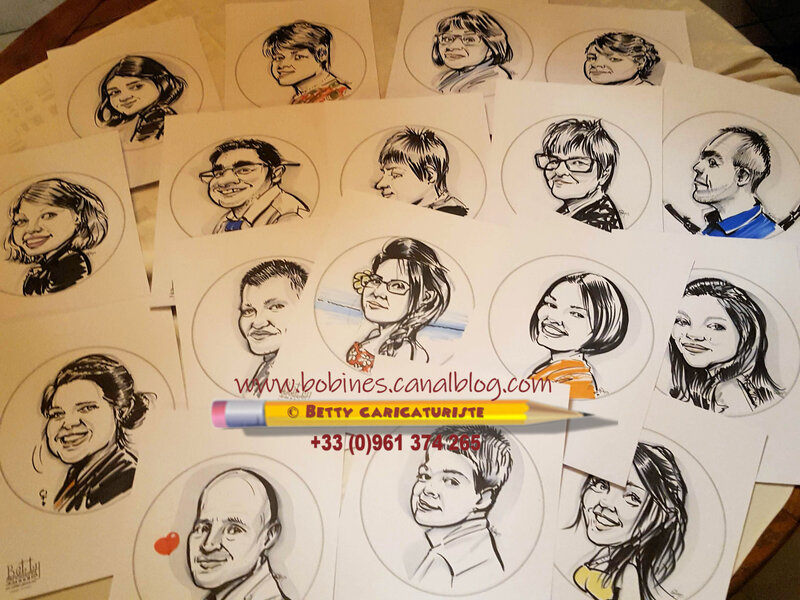 caricatures reception party mariage caricaturiste animation
