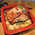 Carré de porc rôti boulangère