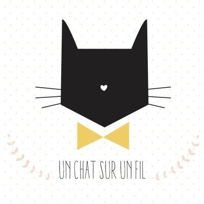 Logo Un chat sur un fil_72dpi_avec pois