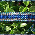 bracelet paso doble double capri blue ABX2 et jet glacier blue