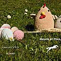 #crochet : modèle poules & oeufs - laines cheval blanc