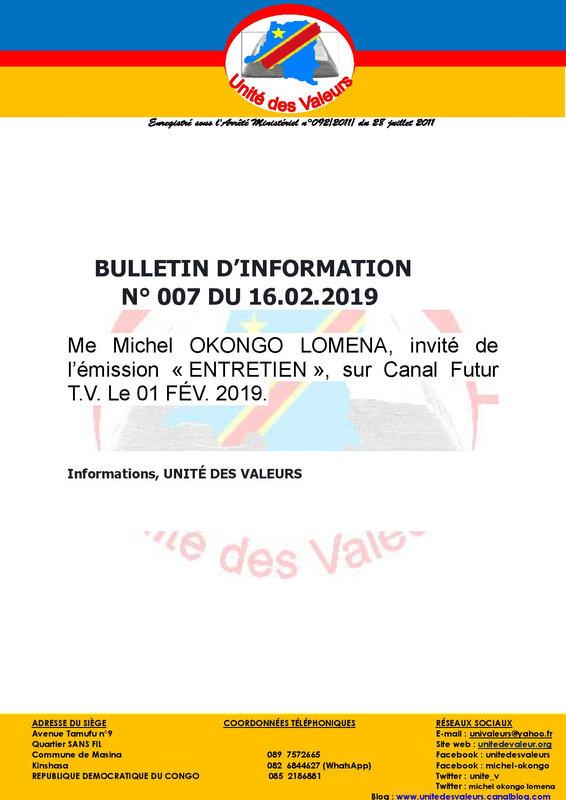 BULLETIN D INFO