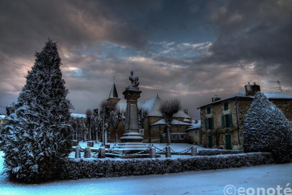 snow, eos 7d, migné, canon, auxance, hdr, eonote