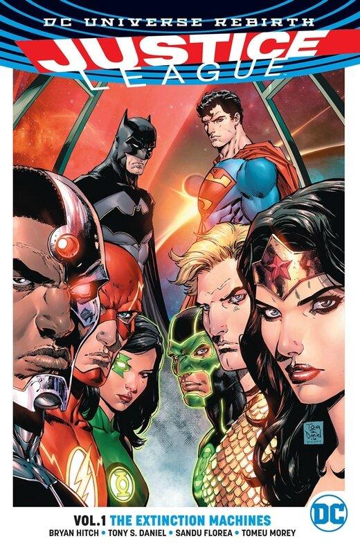 rebirth justice league vol 01 the extinction machines TP