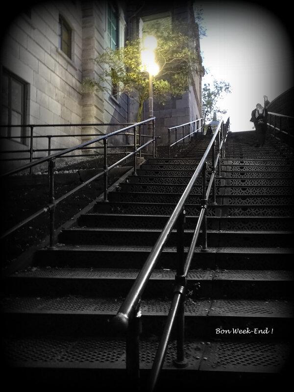 montée escaliers