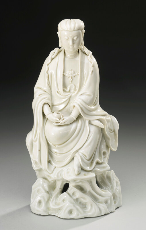 A 'Dehua' figure of Guanyin, Qing dynasty, 17th-18th century1