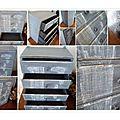 étagère à tiroirs montage