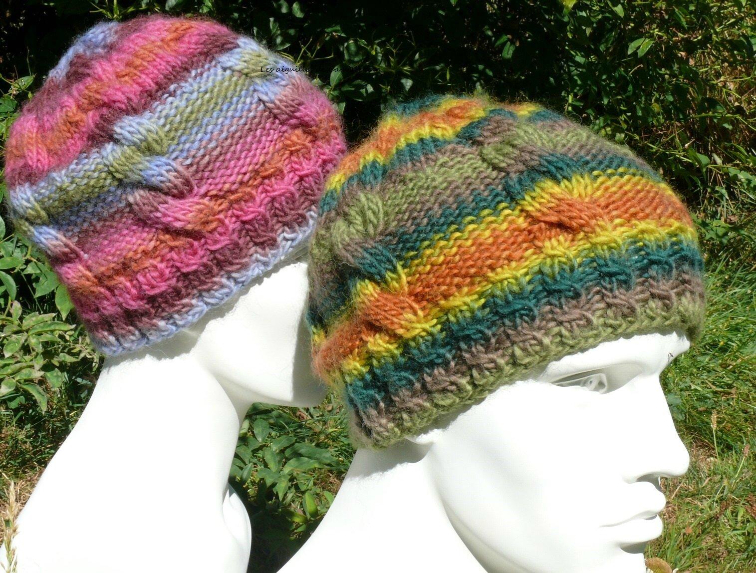 2352ff2257c1 Bonnet mixte à tricoter rapidement. Unisex beanie fastly knit ...
