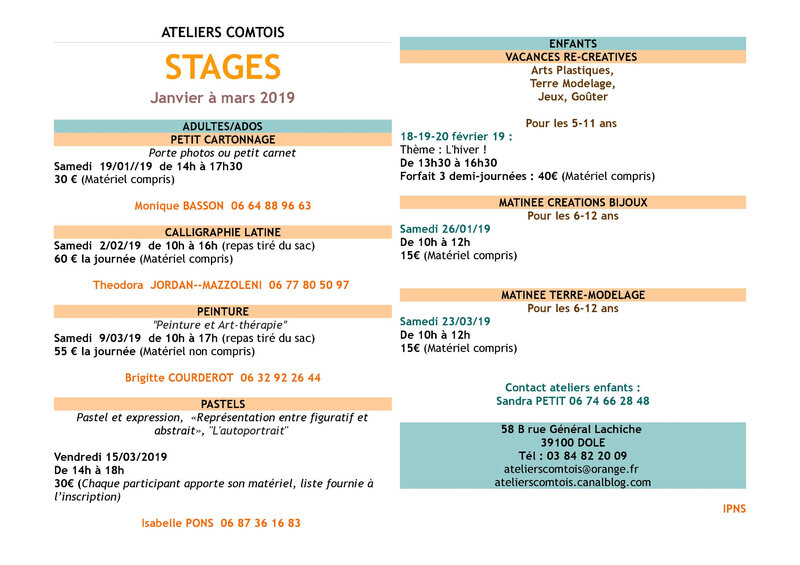 stages 2eme tr 18-19 affiche