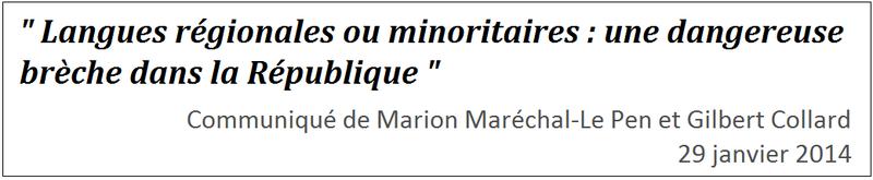 communique marion marechale