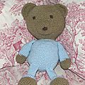 Teddy bear au crochet 1