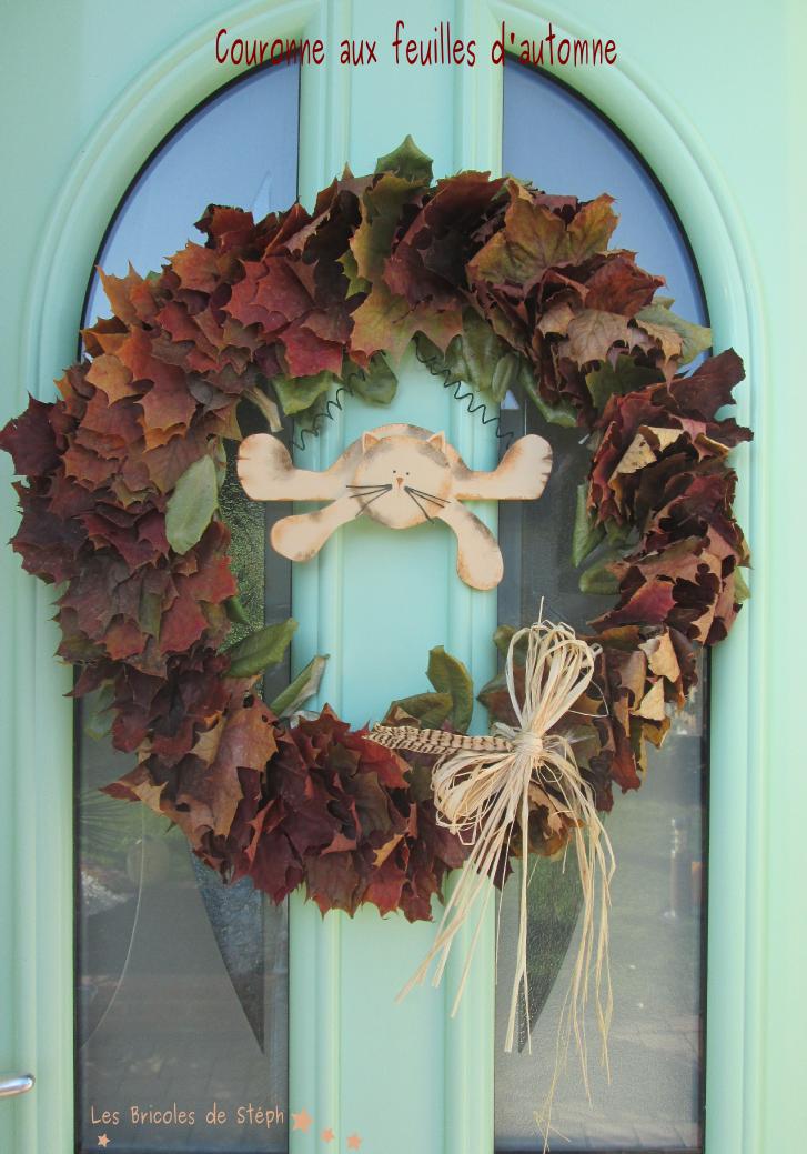 couronne aux feuilles d'automne...et d'hiver